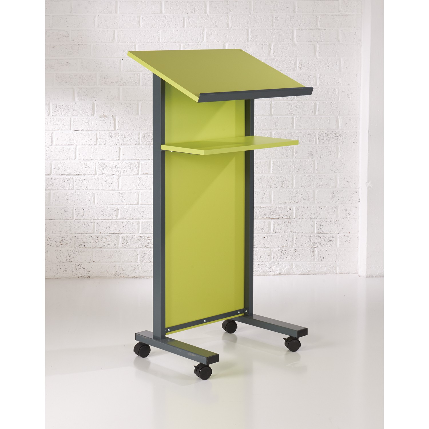 Coloured Panel Front Lectern - Lime