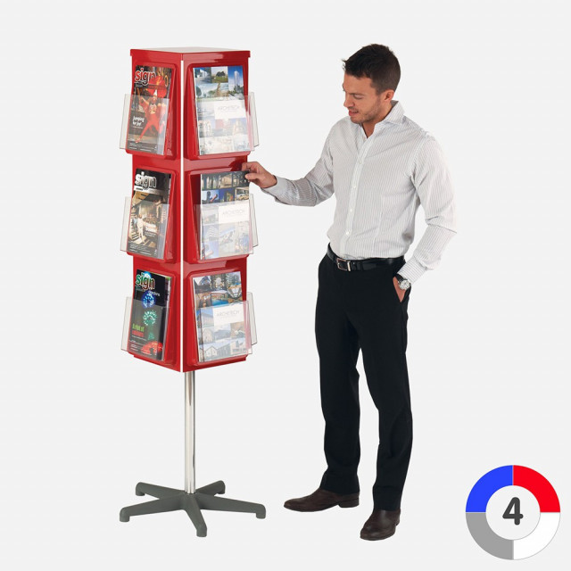 4 Sided Revolving Leaflet Dispenser