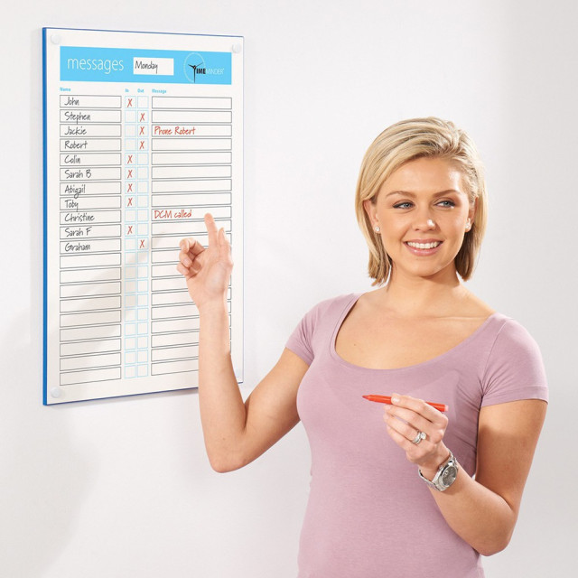 Timeminder in-out personnel message whiteboard
