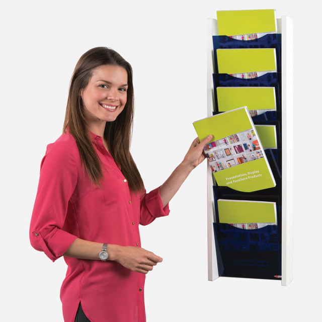 Acrylic Front Wall Mounted Literature Dispenser