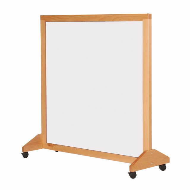 Wood Mobile Whiteboard/Divider