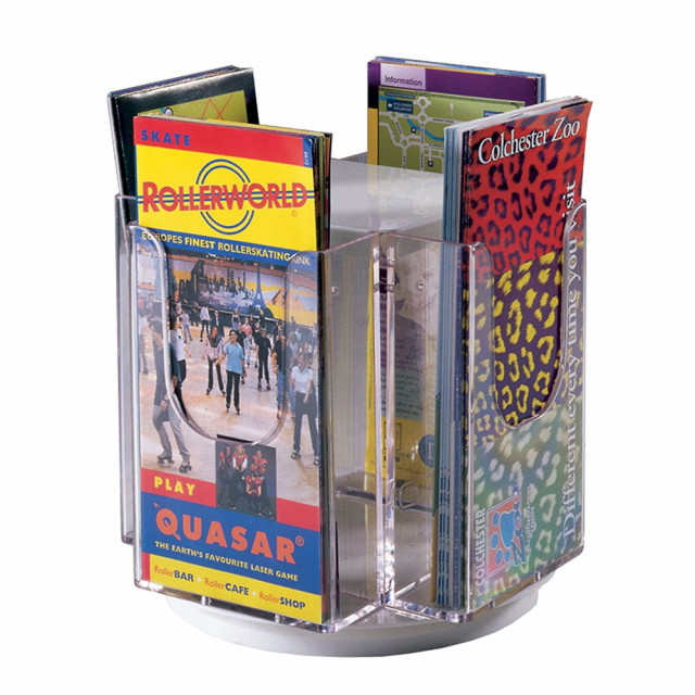 Revolving Tabletop Literature Dispenser