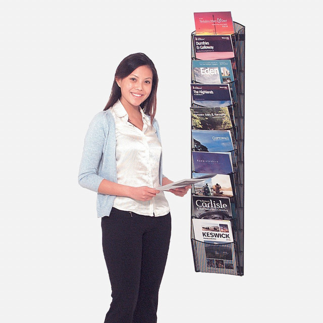 Mesh Wall Mounted Brochure Display