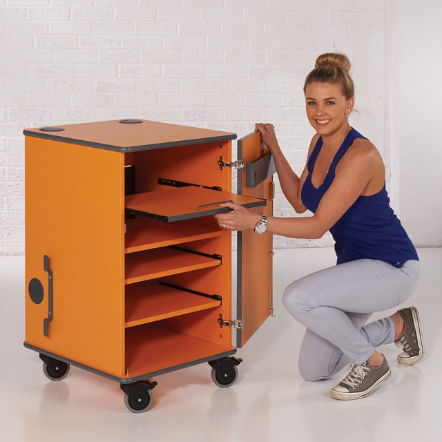 MM100 Coloured mobile multi-media cabinet