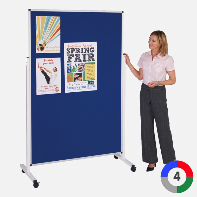 Height Adjustable Mobile Noticeboard