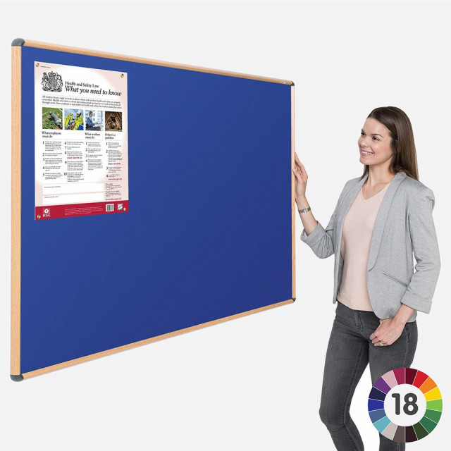 Shield Design Wood Effect Noticeboards