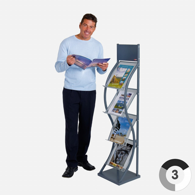 Wave Freestanding Leaflet Dispenser