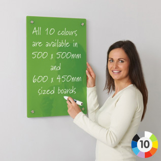 WriteOn coloured glassboards