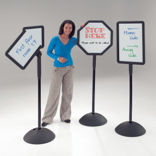 Freestanding whiteboard sign