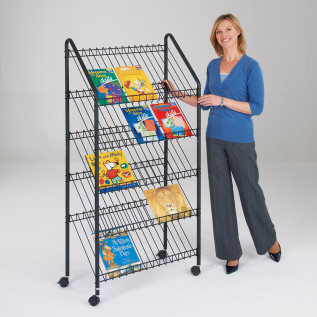 Wire Mobile Magazine Rack