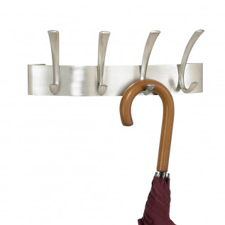 Brushed Steel coat hooks