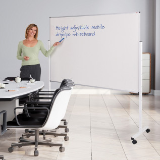 Height Adjustable Mobile Whiteboard