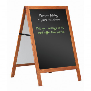 Wood framed blackboard A frame - 800 x 600mm (HxW)