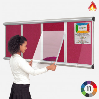 Resist-a-Flame Shield Multi-banked Showcase with Lift Off Covers