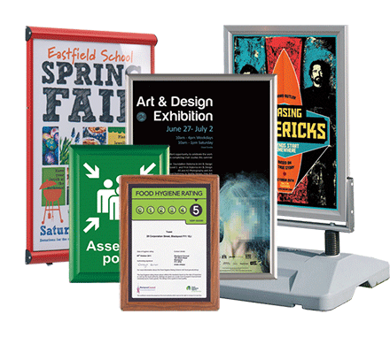 BusyGrip poster display systems