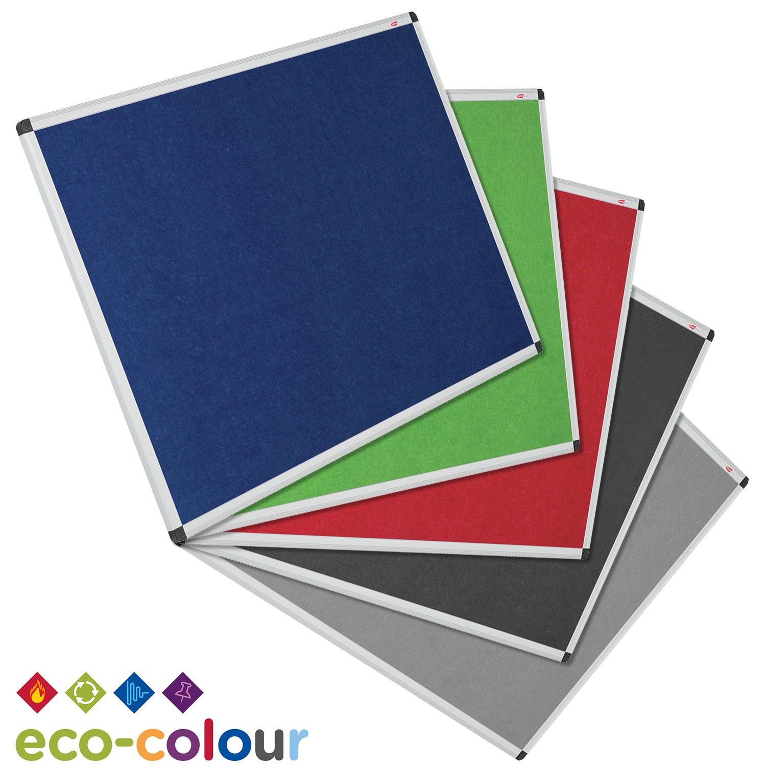 Eco-Colour™ Resist-a-Flame Noticeboards